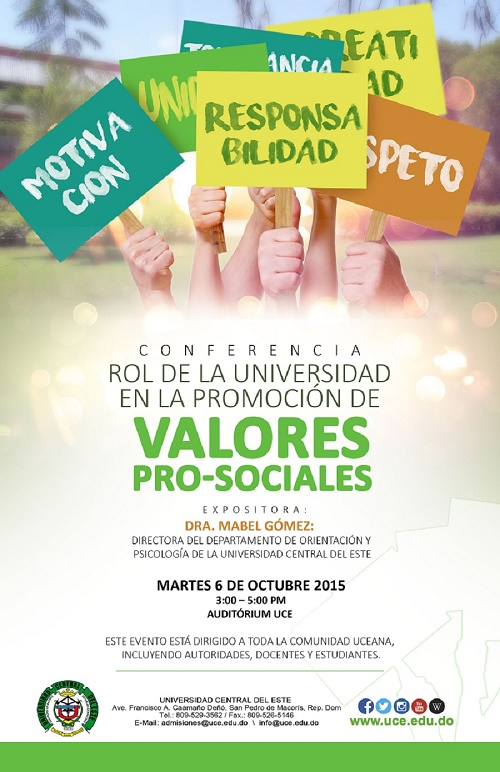 Rol de la universidad y valores